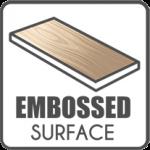 embossed